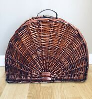 Deluxe Large Half Circle Wicker Picnic Basket