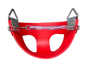 HALF BUCKET INFANT SWING SEAT Red Outdoor Baby Swing Play Equipment Swing Set