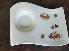 Villeroy and Boch New Wave Caffe Cookies Party Plate Small New with Sticker