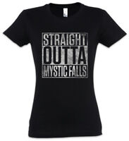 Straight Outta Mystic Falls Damen T-Shirt The Vampire Fun Elena Diaries Vampir