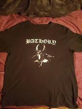 Bathory black metal t shirt heavy metal thrash metal LARGE DARKTHRONE IMMORTAL