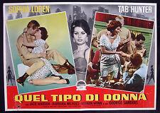 CINEMA-fotobusta QUEL TIPO DI DONNA loren, hunter, SIDNEY LUMET
