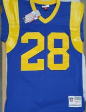 NEW MITCHELL&NESS NFL ST. LOUIS RAMS MARSHALL FAULK REPLICA COLLECTION JERSEY