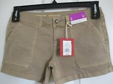 NWT - MOSSIMO ladies Tan Mid Rise Shorts - sz 0