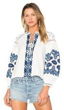 Central Park West New York Anthropologie Marrakech Embroidered Peasant Top XS