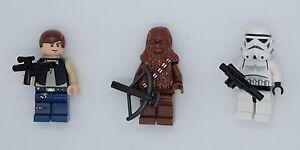 New Genuine Lego Star Wars minifigure HAN SOLO, CHEWBACCA or STORMTROOPER