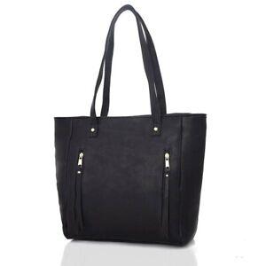 Damentasche  Handtasche  Schultertasche  Umhängetasche Tasche  Fb. Schwarz   493