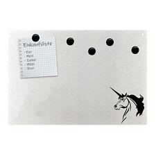 Magnetpinnwand Wandtafel Einhorn Unicorn Pferd Horse Horn Edelstahl magnetisch