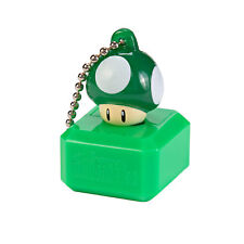 New Super Mario Bros U Mascot Keychain Light - 1 Up Green Mushroom