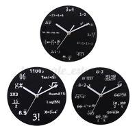 20cm Round Math Wall Clock Mathematical Formula Modern Home Room Watch Decor US