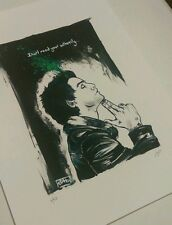 Billie Joe Armstrong portrait - Green Day - A4 Fine Art Print - Limited Edition