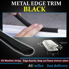Pinchweld Rubber Trim Metal Clips Auto Edge Seal Strip Noise Weather Protect 12M