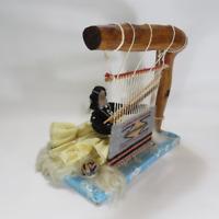 Vintage Miniature Native American Navajo Rug Weaving Loom Doll w Baby Papoose