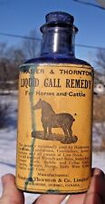LABELED LIQUID GALL REMEDY FOR HORSES & CATTLE COOKSHIRE, QUEBEC 100 YEARS OLD