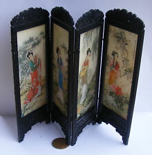 1:12 Scale Folding Chinese Ladies Screen Tumdee Dolls House Bedroom Accessory