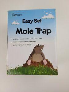 Easy Set Mole Eliminator Trap,Gopher Trap Reusable Quick and Clean Kill, Scissor