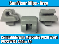 Clips For Mercedes Sun Visor W126 W201 W123 W124 300ce S9 GREY PLASTIC NEW