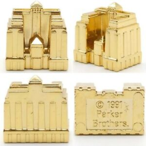 Game Piece Replacement Part Hotel 24K Gold Plated Monopoly Franklin Mint (Qty 1)