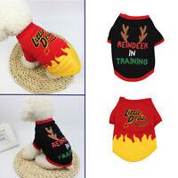Abrigo de gato Traje de Navidad Perro sudaderas Chaleco Mascota ropa de fiesta