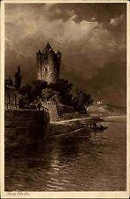 ELTVILLE Rhein Postkarte um 1920 Ufer-Partie mit Burgturm Burg Turm ungelaufen