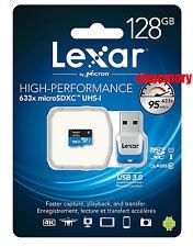 Lexar 128GB 128G 633x 95MB/s Micro SDXC MicroSD Class10 UHS-I + Card Reader AU