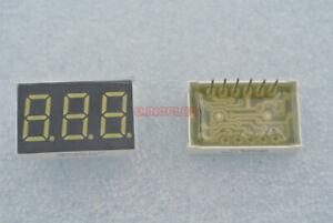 0.36 inch Segment led display 3-digit 7-Seg Common cathode emitted White 8pcs