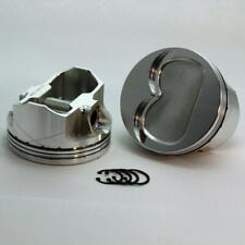 "DSS Piston Set 1-6133-4150B; 4.150"" Bore -18cc Dish for Pontiac 455 Stroker"