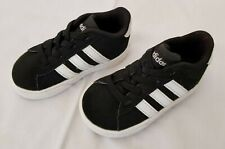 Infant Sz 5K Black White Adidas Neo Baby Daily 2.0 I Core Shoes DB0661 pre-owned