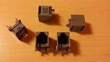 Lot de 5 fiches RJ9 neuves à 6 contacts à souder neuf couleur marron