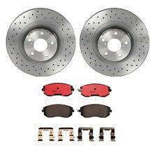 Brembo Front Brake Kit Ceramic Pad Drilled Disc Rotors For 9-2X Forester Impreza