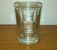 Old No. 7 Brand Clear Shot Glass 2 oz Square Bottom Jack Daniels