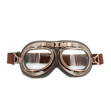 Helmet Steampunk Copper Motorcycle Flying Goggles Vintage Pilot Biker Clear Lens