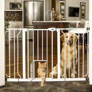 "Carlson 0934PW Extra Wide Walk Through Gate - White - (30"" High/29""-51"" Wide)"