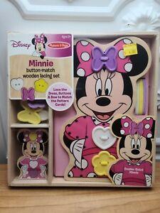 NEW Melissa & Doug DISNEY Minnie Mouse Button Match & Wooden Lacing Set SEALED