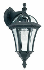 Endon Drayton downlight outdoor wall light IP44 60W Textured black paint glass