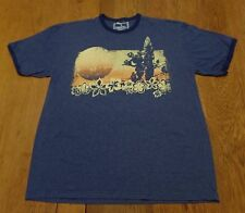 #2649-8* Disney Mickey Mouse Surfboard & Hibiscus Graphics Ringer T-Shirt XL
