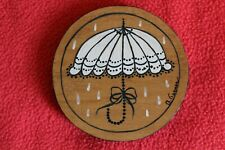 Lid for Umbrella Basket J.W. Collection 2003-2004. I handmade & handpainted an