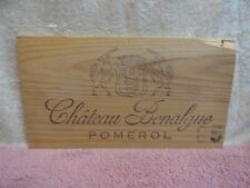 1985 CHATEAU BONALGUE  WOOD WINE PANEL CROWN LION