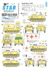 Star Decals 1/35 GULF WAR 1991 BRITISH FV 432 & M548 Operation Granby