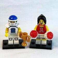 LEGO Collectible Series 8 FOOTBALL GUY & CHEER LEADER Minifigure Figure