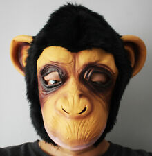 Chimpanzee Monkey Mask Halloween Cosplay Party Funny Chimp FREE FAST SHIPPING