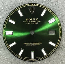 Rolex Green Dial w/ Luminous Stick SS Markers for Men's Datejust 36mm Quickset