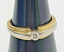 Stunning 18ct Yellow & White Gold Diamond Engagement Ring 3.53g Size N- MUST SEE