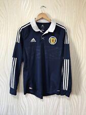 SCOTLAND 2013 2014 HOME FOOTBALL SHIRT SOCCER JERSEY LONG SLEEVE ADIDAS x12074