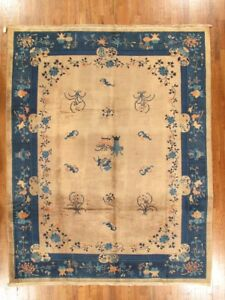 antique chinese rug  9.1x11.5
