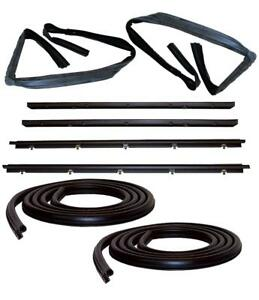 Window Channel & Felt Sweep Belt & Door Seal KT 83-94 Chevy S10 Blazer S15 Jimmy