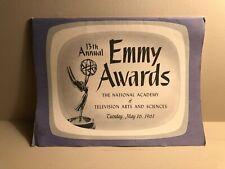 1961 13th Annual Emmy Awards Program (Flintstones Nomination)