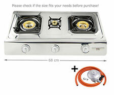NGB3 Gas Stove Cooker 3 burner Portable Camping Outdoor LPG 8.0kW WOK butane NEW