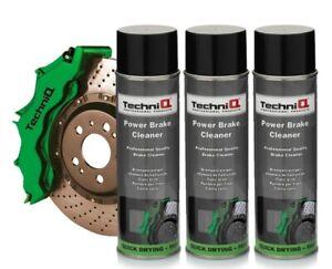 TechniQ Power Brake Cleaner Brake Caliper 500ml Aerosol Spray Large 500ml x 3