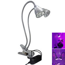 10W LED RBW Grow Light Desk Flexible Clip On Clamp Lamp Hydroponic Plant Indoor
